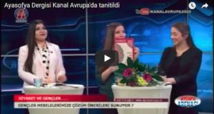Unsere Autorin Sinem Can stellt auf Kanal Avrupa die Ayasofya vor